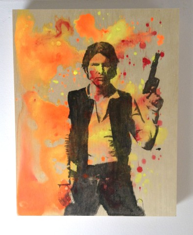 "11x14"" painting on wood to purchase: Han Solo"